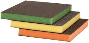 Гъби с шкурка за шлайфане BOSCH - 2608621254 -M, F, SF, 98x120x13 мм. / 3 бр. Sanding sponges /