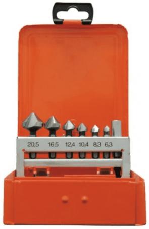 "Зенкери за метал PROJAHN - 35003 - HSS-G, 6,3-20,5 мм., 6-стен, 1/4"" / 7 ч. /"