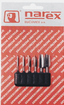 Метчици шестограм комплект BUCOVICE TOOLS - 948 110 - CS, М3,0-10,0 мм., BIT 1
