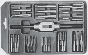 Метчици с върток комплект BUCOVICE TOOLS - 310 127 - CS, М3,0-12,0 мм., MINI-2