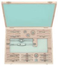 """Метчици и плашки с върток комплект BUCOVICE TOOLS - 316 100 - CS, UNF 1/4""""-1/2"""" UNF 1"""