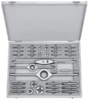 """Метчици и плашки с върток комплект BUCOVICE TOOLS - 340 012 - HSS, W1-II W1/8""""-1/2"""""""