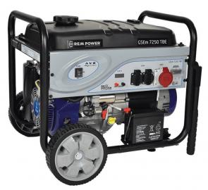 Бензинов генератор с Bluetooth управление ELEKTRO MASCHINEN - GSEm 7250 TBE - 230/400 V, 7250 W, 420 см3, 23 л.