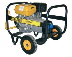 Монофазен бензинов генератор AYERBE - 5000 KT MN - 230 V, 4,2 kW, 3000 оборота, 6 л. / ръчно стартиране /