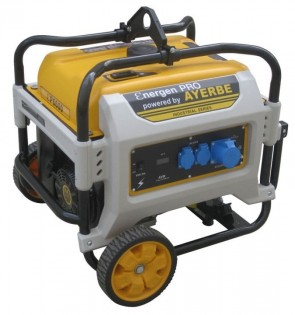 Монофазен бензинов генератор AYERBE - Ɛner-Gen Pro 6600 KT MN - 230 V, 5500 W, 3000 оборота, 35 л. / ръчно стартиране /