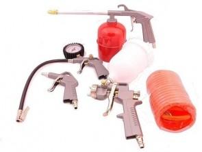 Пневматичен комплект ABAC kit 5 - 8973005547 - / 4 пистолета +1 маркуч /