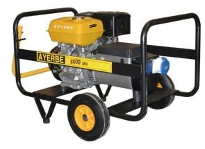 Монофазен бензинов генератор AYERBE - 8000 KT MN - 230 V, 6,4 kW, 3000 оборота, 6,5 л. / ръчно стартиране /