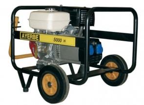 Монофазен бензинов генератор AYERBE - 5000 H MN - 230 V, 4,0 kW, 3000 оборота, 6 л. / ръчно стартиране /