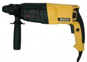 Перфоратор RAPTER - RR RH-10 - 800 W, 1300 оборота, 0-4800 удара, 2,6 J, 30/26/13 мм., SDS+